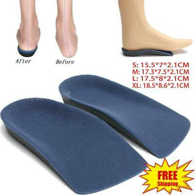 3/4 Orthotic Shoe Insoles Inserts Flat Feet Arch Support For Plantar Fasciitis