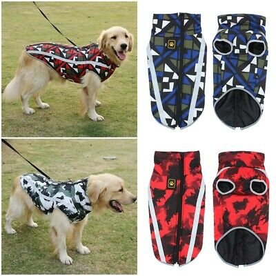 Comfy Soft Dog Jacket Padded Waterproof Pet Clothes Warm Vest Coat Winter S-6XL
