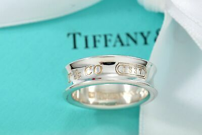 Authentic sterling silver TIFFANY & CO. 1837 COLLECTION WIDE BAND ring size 6.5