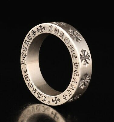 Unique Chinese Pure Silver Hand-Carved Crucifix Ring Gift High-End Collection