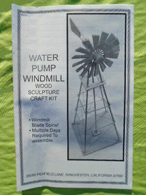 Water Pump Windmill Wood Sculpture Craft Kit With Instructions - NEW