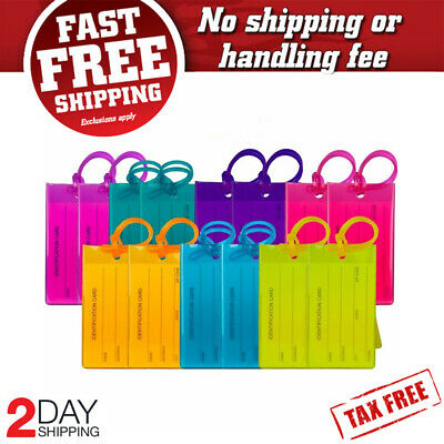 14 Pack TravelMore Luggage Tags For Suitcases Flexible Silicone Travel ID