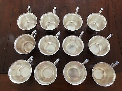12 Vintage Gorham Paul Revere YC790 Silver Plate Punch Tea Cups