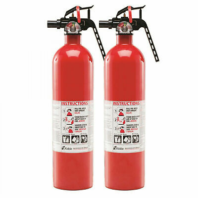 Fire Extinguisher 2 Pack Emergency 1-A:10-B:C Kidde Multi Type Home Office Boat