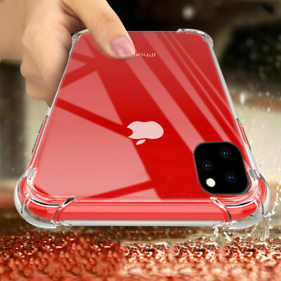 Case For iPhone 11 Pro Max XR X 7 8 Plus Crystal Clear Cover Silicone Shockproof
