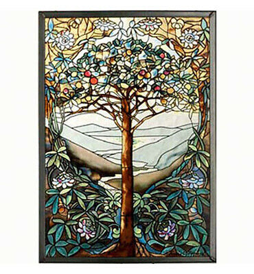 Stained Glass Panels - Tree Of Life Art Glass Panel - Wall Art