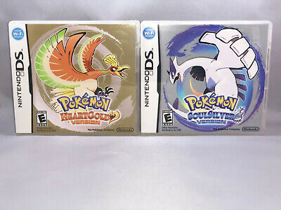 Pokemon HeartGold and SoulSilver Cases + Games Nintendo DS USA English Versions