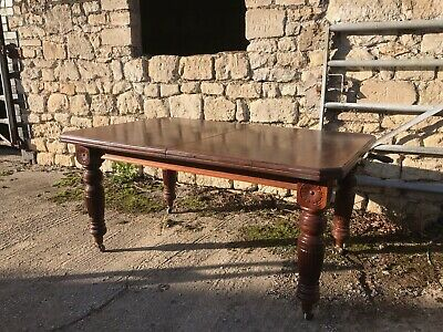 victorian mahogany crank winding table