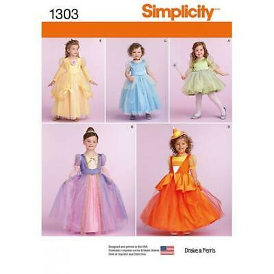 Simplicity Fairy Princess Child's Costumes Sewing Patterns 1303