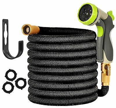 """Expandable Garden Hose - 50ft Water Hose with 3/4"""" Solid Brass Fittings - ALL..."""