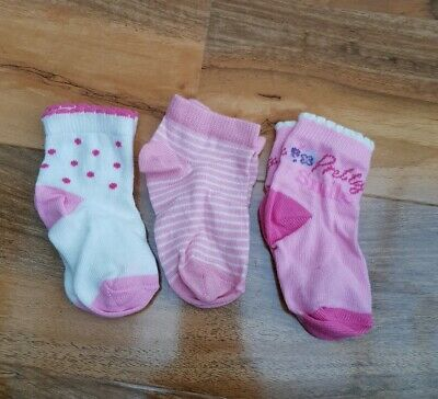 GEORGE baby Girls cotton Socks pack of 3 pairs BRAND NEW