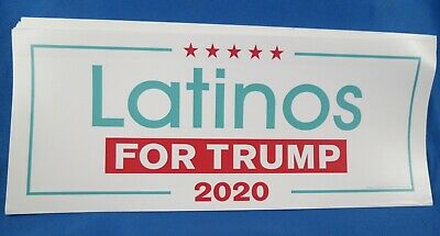 WHOLESALE LOT OF 10 LATINOS for TRUMP 2020 STICKERS Hispanic vote support USA
