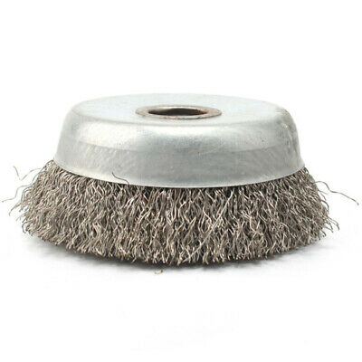 Stainless Steel Cleaning Brush Crimped Wire Cup Wheel Rust Removal Tool Supplies
