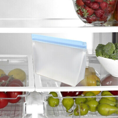 1x Reusable Silicone Food Preservation Bag Airtight Seal Food Storage Container