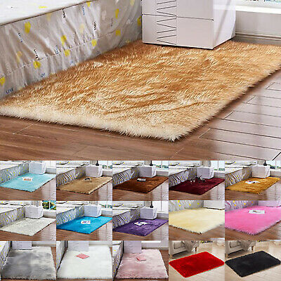 Fluffy Rug Anti-Skid Shaggy Rugs Carpets Washable Living Room Bedroom Floor Mats