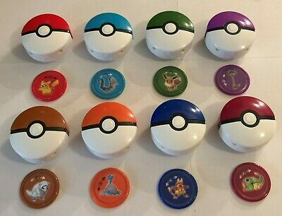 2019 McDonalds POKEMON Happy Meal Toys SET OF (8) LAUNCHER & DISCS ONLY NO CARDS