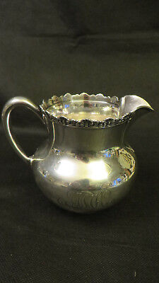 """4"""" Sterling Silver Creamer Pitcher By Spaulding & Co., In Excellent Condition"""