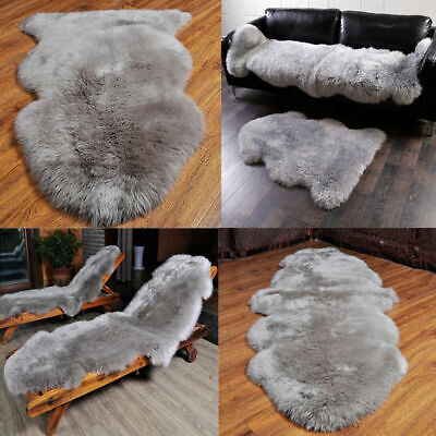 Round Irregular Fluffy Rugs Anti-Skid Shaggy Floor Mat Faux Fur Bedroom Carpet