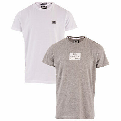 Weekend Offender Lot de 2 T-shirts La Sante Blanc Gris Homme