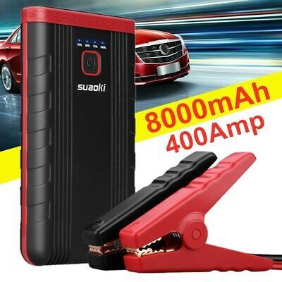 16000mAh 12V Portable Car Jump Starter Battery Charger USB Power Bank 1200A Peak