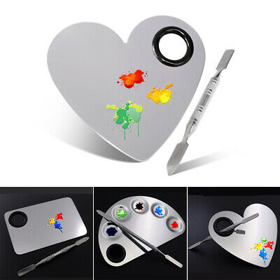 Paint Watercolor Oil Stainless Steel Nail Art Painting Rod Drawing Tools Palette