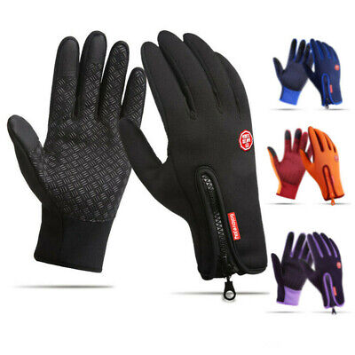 Touch Screen Winter Bike Bicycle Cycling Thermal Warm Gloves BMX MTB - Windproof