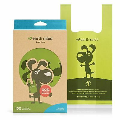 Earth Rated Waste Poo 120 Bags Unscented Tie Handle Eco Friendly Biodegradable