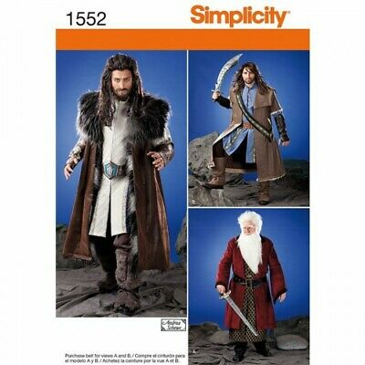 Simplicity Sewing Pattern 1552 Medieval Tunic, Cloak And Accessories
