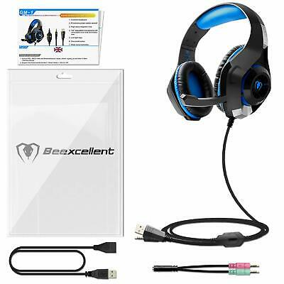 Gaming Headset für PS4 PC Xbox One, Beexcellent LED Licht Crystal Clarity