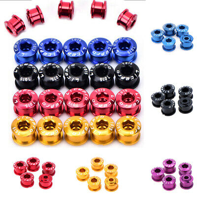 5PCS Bike Chainring Bolts Single/Double/Triple Speed Chain ring Screws UK