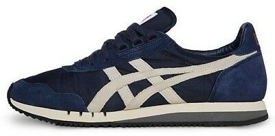 Junior Womens Boys Onitsuka Tiger Dualio Navy sneakers trainers fashion Size UK
