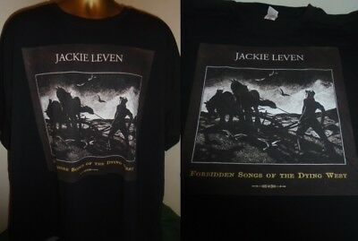 Jackie Leven- Forbidden Songs Of The Dying West Print T Shirt- Black- Large