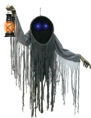 LifeSize ANIMATED Hanging Looming Phantom Spirit HALLOWEEN PROP Outdoor HAUNTED