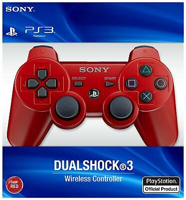 Brand New Sony PS3 PlayStation 3 Dualshock Wireless Controller RED