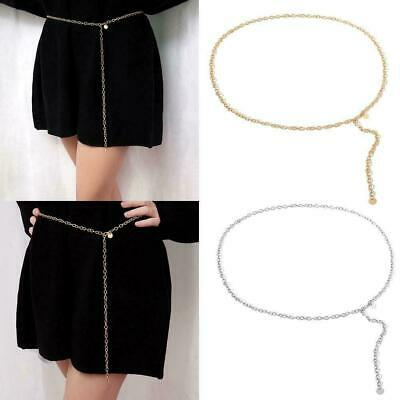 Ladies Women Girls Skinny Thin Metal Chain Waist Belt Dress Belt Fashion Fa Z8P7