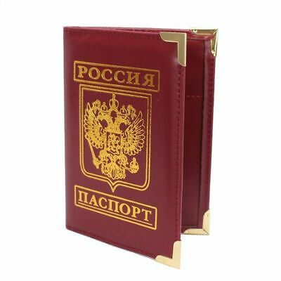 Brand New Russian Official Passport Cover Eagle Printed Case Holder Two Colors