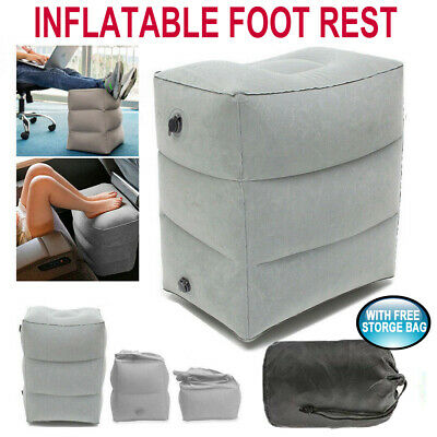 Inflatable Foot Rest Travel Air Pillow Cushion Office Home Leg Footrest Relax AU