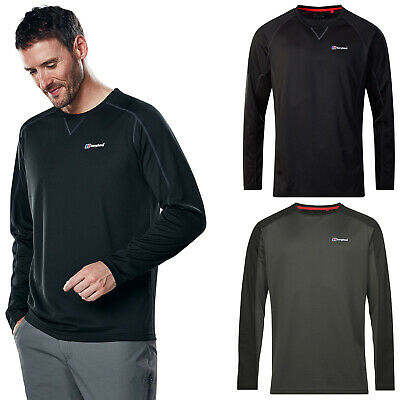Berghaus Mens Long Sleeve Tech T-Shirt 2.0 Crew Tee Baselayer Hiking Walking Top