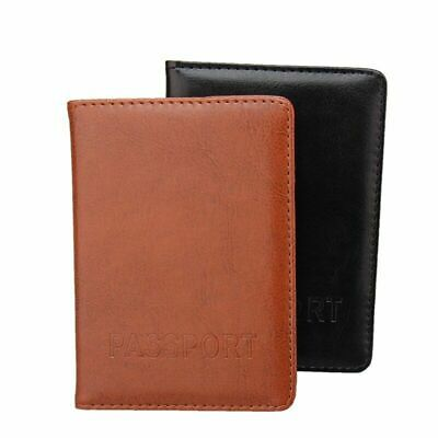 Famous Brand Passport Cover Holder Leather Fashion Casual Solid Case Two Colors