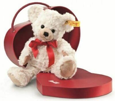 Steiff Teddy Bear in Red Heart Carry Case Christmas Love Gift, 109904