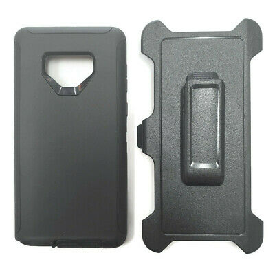 Samsung Galaxy Note 9 Black Case w/ Holster Fits Otterbox DEFENDER SERIES