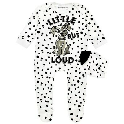 Disney 101 Dalmatians Sleepsuit Hat Set George Baby Boys Dog Costume Fancy Dress