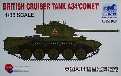 "BRONCO CB35010SP British Cruiser Tank A34 ""Comet"" in 1:35"