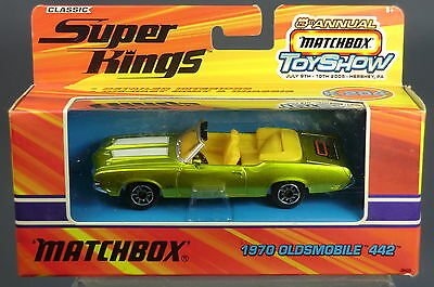 "Matchbox Superkings Model K-204 1970 Oldsmobile ""442""  Drophead Coupe     Mib"