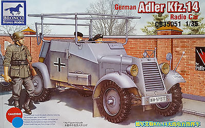 BRONCO CB35051 WWII German Adler Kfz.14 Radio Car in 1:35