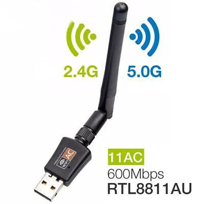 USB WiFi Adapters Dongle Dual Band 600Mbps Wireless LAN 802.11ac/a/b/g/n5/2.4Ghz