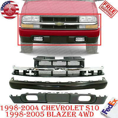 For 94-97 CHEVY S10 PICKUP 4WD FRONT BUMPER IMPACT  END STRIP MOLDING VALANCE 5P
