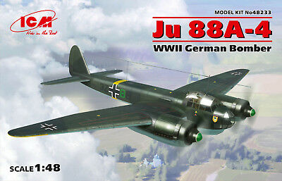 ICM 48233 WWII German Bomber Junkers Ju88A-4 in 1:48