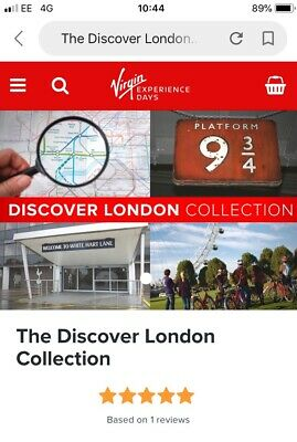 Virgin Experience Days Voucher - London Collection