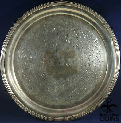1848-1852 Tiffany, Young & Ellis John C. Moore Silver Salver 3-Footed Tray